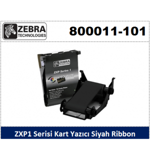 Zebra ZXP1 Kart Yazıcı Ribon Siyah 800011-101