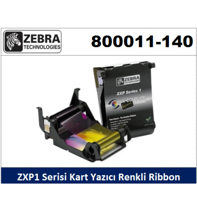Zebra ZXP1 Kart Yazıcı Ribon Renkli 800011-140