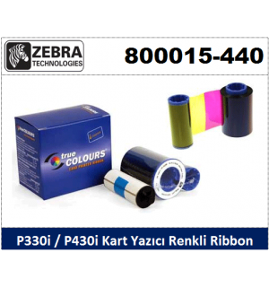 Zebra P330i-P430i Kart Yazıcı Ribon Renkli 800015-440