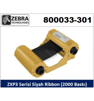 Zebra ZXP3 Kart Yazıcı Ribon Siyah 800033-301
