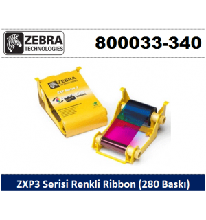 Zebra ZXP3 Kart Yazıcı Ribon Renkli 800033-340