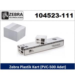 Zebra Plastik Kart 500 Adet 104523-111