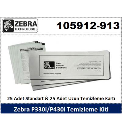 Zebra Kart Yazıcı Temizlik Kiti 105912-913 (P330-P430 Serisi)