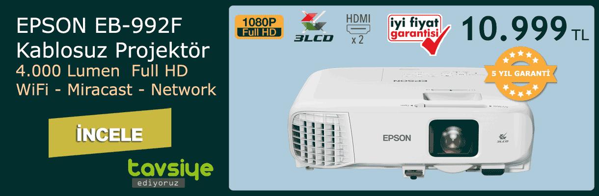 EPSON EB-992F Kablosuz Projektör Kampanya