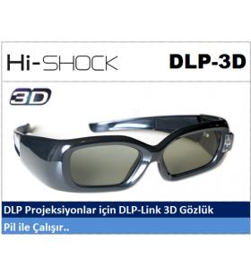 Hi-Shock DLP-Link 3D Projeksiyon Gözlüğü