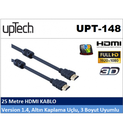 Uptech UPT-148 25MT HDMI Projeksiyon Kablosu