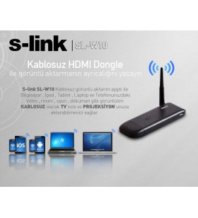 S-Link SL-W10 Kablosuz Görüntü Ses Aktarım Cihazı