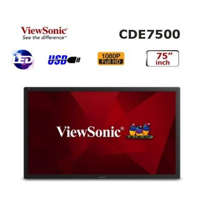 Viewsonic 75 inch PROFESYONEL LED MONİTÖR CDE7500