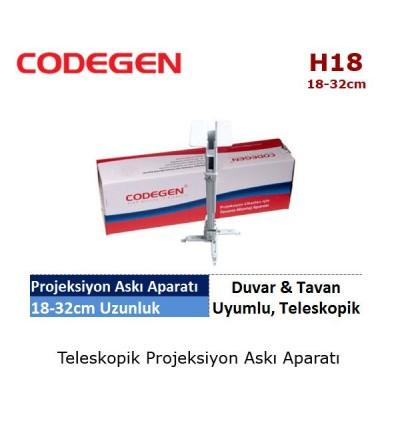 CODEGEN H18 Projeksiyon Tavan Askı Aparatı (18-32cm)