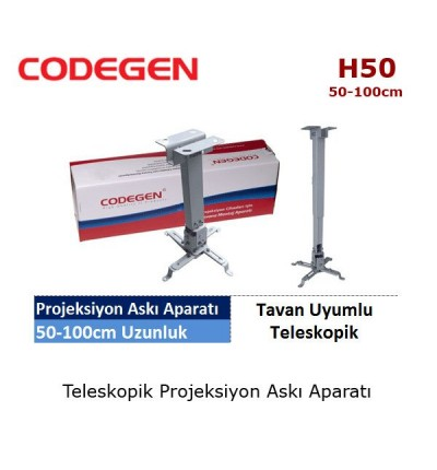 CODEGEN H50 Projeksiyon Tavan Askı Aparatı (50-100cm)