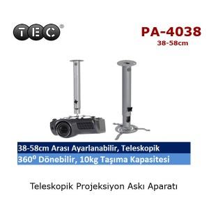 TEC PA-4038 Projeksiyon Askı Aparatı (38-58cm)