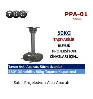 TEC PPA-01 Projeksiyon Tavan Askı Aparatı (50cm)