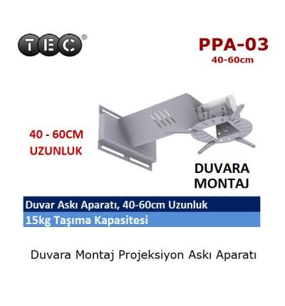 TEC PPA-03 Projeksiyon Duvar Askı Aparatı (40-60cm)
