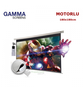 Gamma Screens Motorlu Projeksiyon Perdesi (180x180cm)