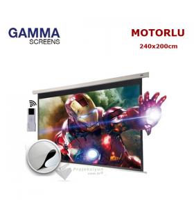 Gamma Screens Motorlu Projeksiyon Perdesi (240x200cm)
