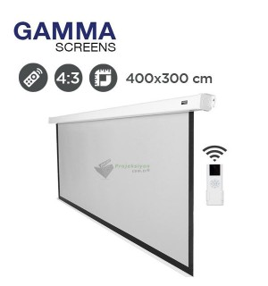 Gamma Screens Motorlu Projeksiyon Perdesi (400x300cm)