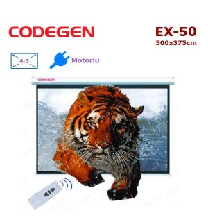 CODEGEN EX-50 Motorlu Projeksiyon Perdesi (500x375cm)
