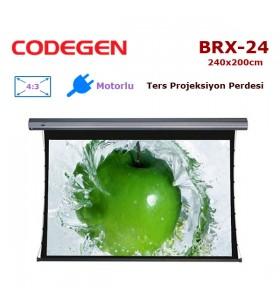 CODEGEN BRX-24 Motorlu Ters Projeksiyon Perdesi (240x200cm)