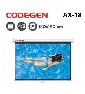 CODEGEN AX-18 Storlu Projeksiyon Perdesi (180x180cm)