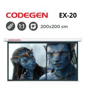 CODEGEN EX-20 Motorlu Projeksiyon Perdesi (200x200cm)