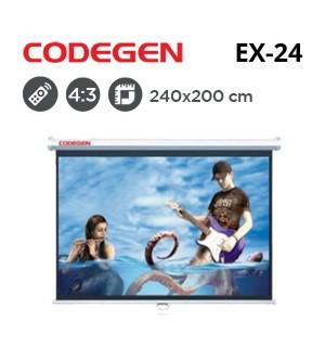 CODEGEN EX-24 Motorlu Projeksiyon Perdesi (240x200cm)