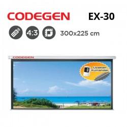 CODEGEN EX-30 Motorlu Projeksiyon Perdesi (300x225cm)