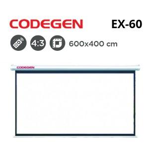 CODEGEN EX-60 Motorlu Projeksiyon Perdesi (600x400cm)