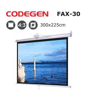 CODEGEN FAX-30 Storlu Projeksiyon Perdesi (300x225cm)