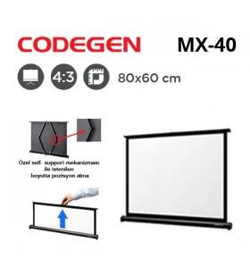 CODEGEN MX-40 Taşınabilir Projeksiyon Perdesi (80x60cm)