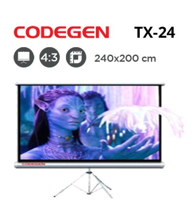 CODEGEN TX-24 Tripod Projeksiyon Perdesi (240x200cm)