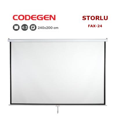 CODEGEN FAX-24 Storlu Projeksiyon Perdesi (240x200cm)