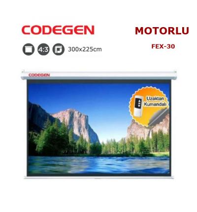 CODEGEN FEX-30 Motorlu Projeksiyon Perdesi (300x225cm)