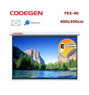 CODEGEN FEX-40 Motorlu Projeksiyon Perdesi (400x300cm)