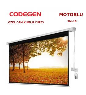 CODEGEN SM-18 MOTORLU 180x180cm PROJEKSİYON PERDESİ