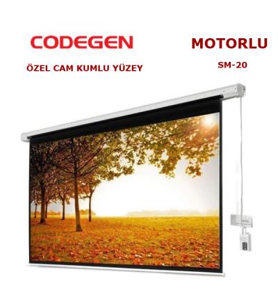 CODEGEN SM-20 MOTORLU 200x200cm PROJEKSİYON PERDESİ