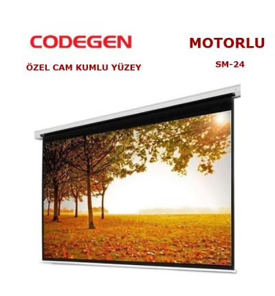 CODEGEN SM-24 MOTORLU 240x200cm PROJEKSİYON PERDESİ