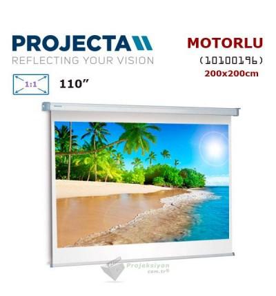 PROJECTA 10100196 Motorlu Projeksiyon Perdesi (200x200cm)