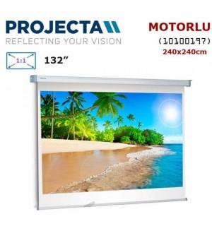 PROJECTA 10100197 Motorlu Projeksiyon Perdesi (240x240cm)