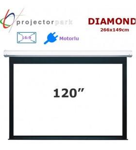 PROJECTORPARK Diamond Motorlu Projeksiyon Perdesi (266x149cm)