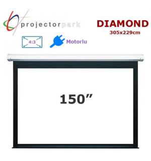 PROJECTORPARK Diamond Motorlu Projeksiyon Perdesi (305x229cm)