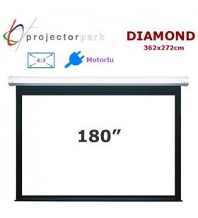 PROJECTORPARK Diamond Motorlu Projeksiyon Perdesi (362x272cm)