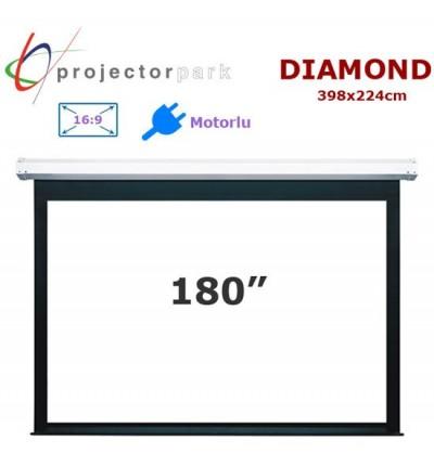 PROJECTORPARK Diamond Motorlu Projeksiyon Perdesi (398x224cm)