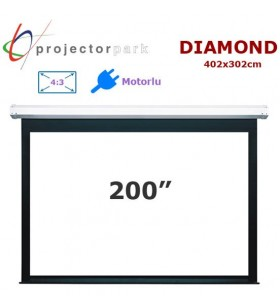 PROJECTORPARK Diamond Motorlu Projeksiyon Perdesi (402x302cm)