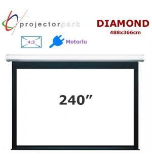 PROJECTORPARK Diamond Motorlu Projeksiyon Perdesi (488x366cm)