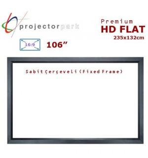 PROJECTORPARK HD Flat Sabit Çerçeveli Projeksiyon Perdesi (235x132cm)