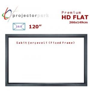 PROJECTORPARK HD Flat Sabit Çerçeveli Projeksiyon Perdesi (266x149cm)