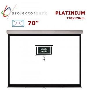 PROJECTORPARK Platinium Storlu Projeksiyon Perdesi (178x178cm)