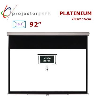 PROJECTORPARK Platinium Storlu Projeksiyon Perdesi (203x115cm)
