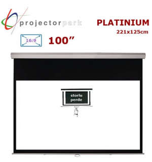 PROJECTORPARK Platinium Storlu Projeksiyon Perdesi (221x125cm)