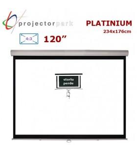 PROJECTORPARK Platinium Storlu Projeksiyon Perdesi (234x176cm)